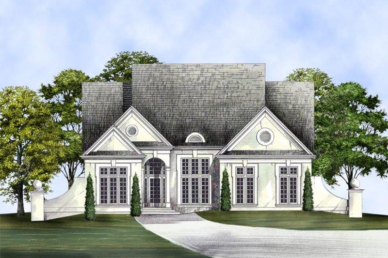 Dream House Plan - European Exterior - Front Elevation Plan #119-266