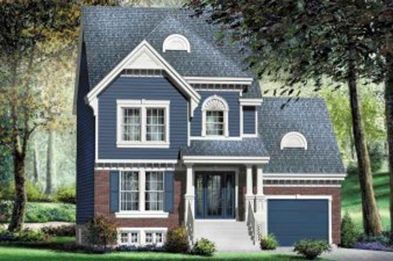 European Style House Plan - 3 Beds 1.5 Baths 1431 Sq/Ft Plan #25-4168 Exterior - Front Elevation