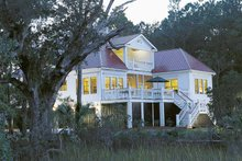 Dream House Plan - Country Exterior - Rear Elevation Plan #37-257