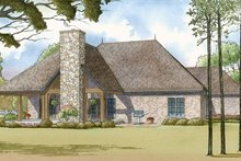 House Plan Design - European Exterior - Rear Elevation Plan #17-3369