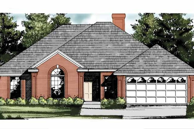 Traditional Exterior - Front Elevation Plan #40-457 - Houseplans.com