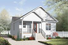 Architectural House Design - Traditional Exterior - Front Elevation Plan #23-2376