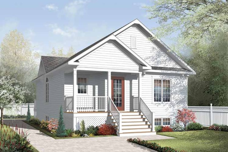 House Plan Design - Traditional Exterior - Front Elevation Plan #23-2376