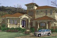 House Plan Design - Mediterranean Exterior - Front Elevation Plan #120-213