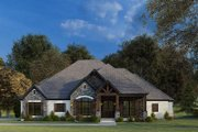 Craftsman Style House Plan - 4 Beds 3.5 Baths 2537 Sq/Ft Plan #923-172 Exterior - Front Elevation