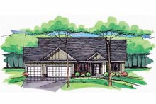 European Exterior - Front Elevation Plan #51-974