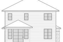 Contemporary Exterior - Rear Elevation Plan #23-2608