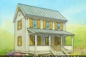 Cottage Exterior - Front Elevation Plan #514-13