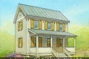 Cottage Exterior - Front Elevation Plan #514-13