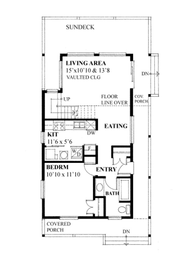 Cabin Floor Plan - Main Floor Plan Plan #118-163