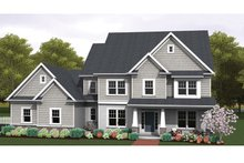 Colonial Exterior - Front Elevation Plan #1010-63