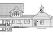 Traditional Style House Plan - 4 Beds 3.5 Baths 3677 Sq/Ft Plan #928-271 Exterior - Rear Elevation