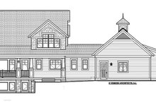 Home Plan - Traditional Exterior - Rear Elevation Plan #928-271