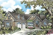 European Style House Plan - 4 Beds 4 Baths 2401 Sq/Ft Plan #929-4 Exterior - Front Elevation