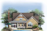 Craftsman Style House Plan - 3 Beds 2.5 Baths 1844 Sq/Ft Plan #929-849 Exterior - Rear Elevation