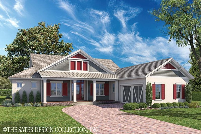 Ranch Style House Plan - 3 Beds 3.5 Baths 2900 Sq/Ft Plan #930-468 Exterior - Front Elevation
