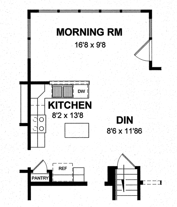 Colonial Floor Plan - Other Floor Plan Plan #316-291
