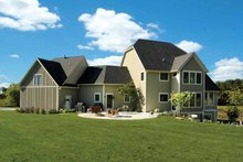 Architectural House Design - European Exterior - Rear Elevation Plan #928-102