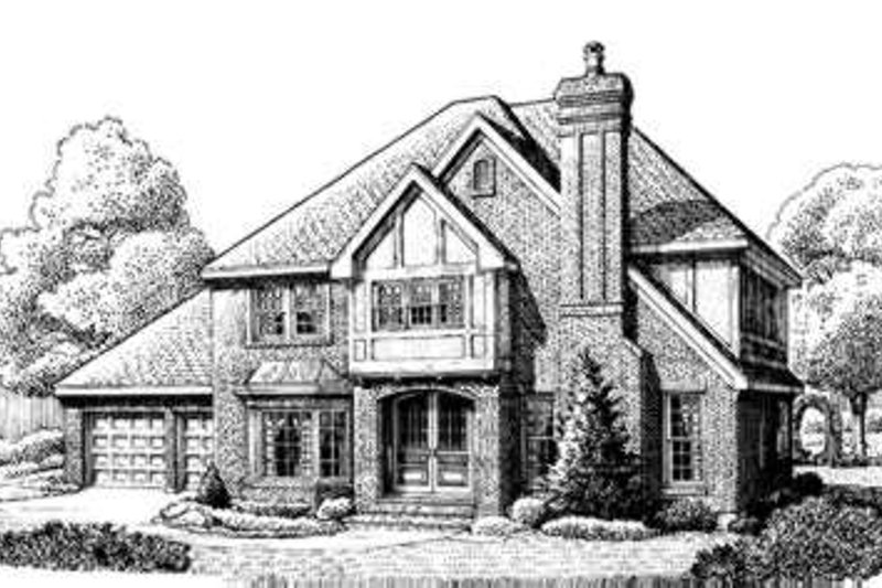 European Exterior - Front Elevation Plan #410-205