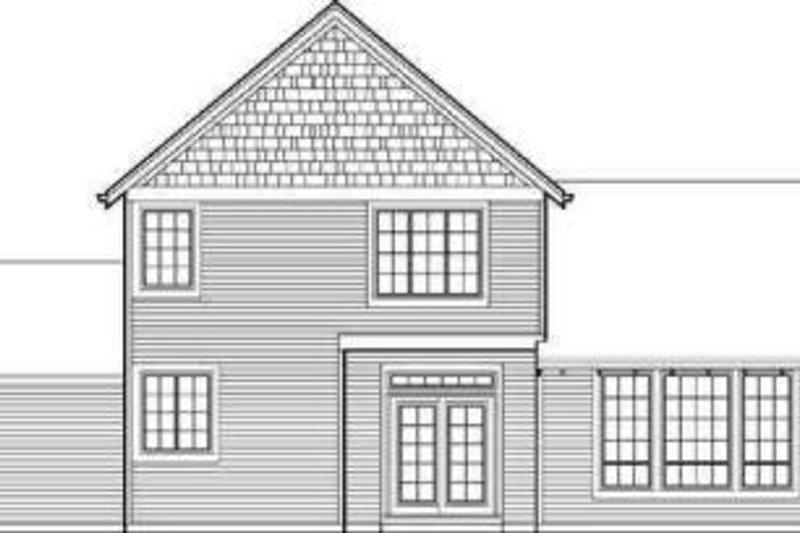 Craftsman Exterior - Rear Elevation Plan #48-111 - Houseplans.com