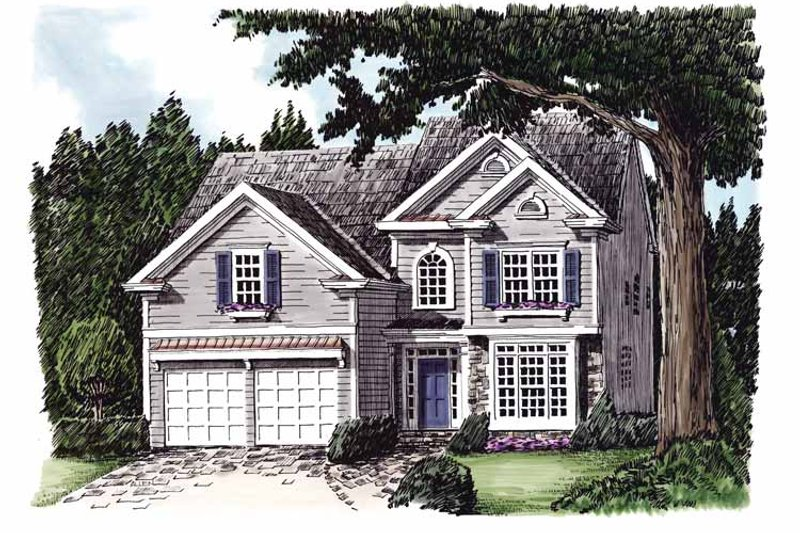 Colonial Exterior - Front Elevation Plan #927-628