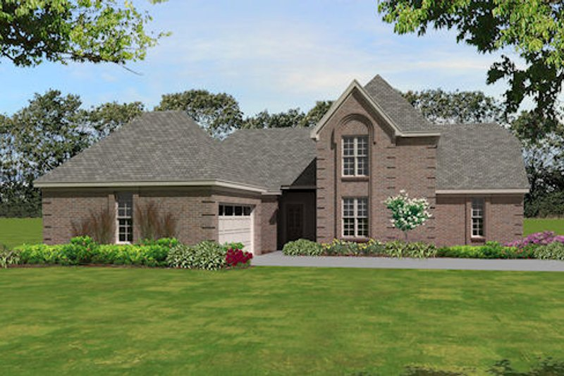 Traditional Style House Plan - 4 Beds 3 Baths 2186 Sq/Ft Plan #81-13838 Exterior - Front Elevation