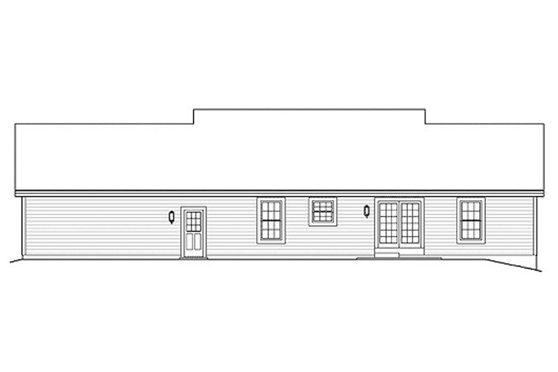 Ranch Exterior - Rear Elevation Plan #57-339 - Houseplans.com