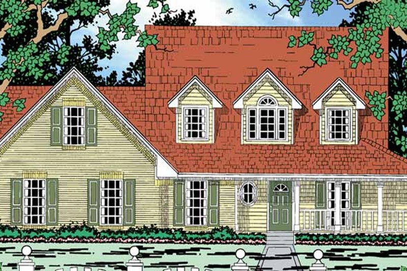 Country Exterior - Front Elevation Plan #42-685