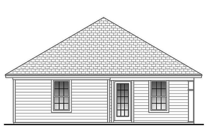 Traditional Exterior - Rear Elevation Plan #430-38 - Houseplans.com