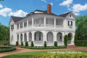 Classical Style House Plan - 3 Beds 4.5 Baths 4134 Sq/Ft Plan #930-460 Exterior - Front Elevation