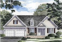 Ranch Exterior - Front Elevation Plan #316-258