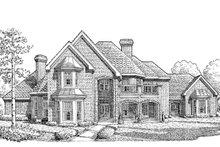 Dream House Plan - European Exterior - Front Elevation Plan #410-129