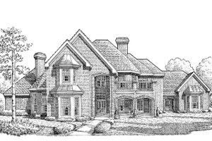 European Exterior - Front Elevation Plan #410-129