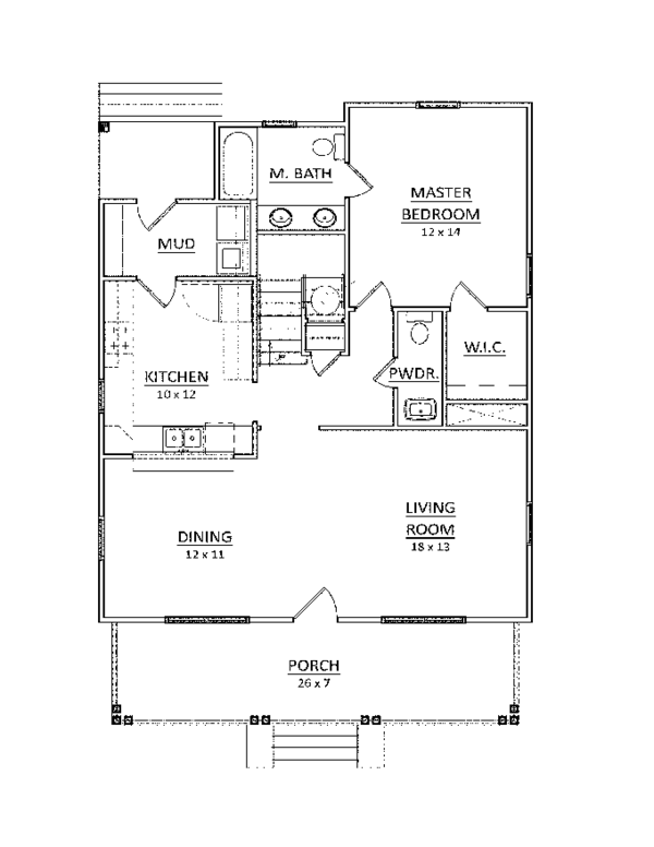 Craftsman Floor Plan - Main Floor Plan Plan #936-8