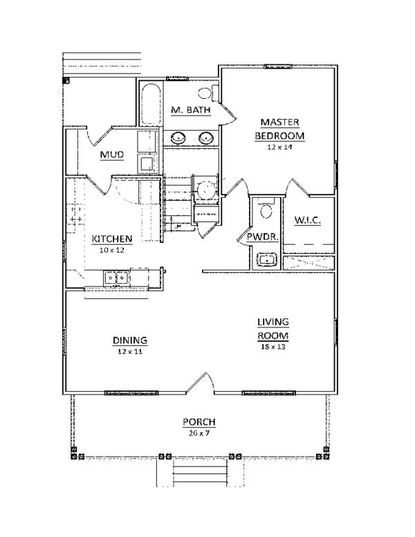 Craftsman Floor Plan - Main Floor Plan Plan #936-8