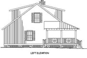Cottage Style House Plan - 3 Beds 2 Baths 1397 Sq/Ft Plan #17-2015 Exterior - Other Elevation