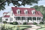 Southern Style House Plan - 4 Beds 3 Baths 2419 Sq/Ft Plan #137-169 Exterior - Front Elevation