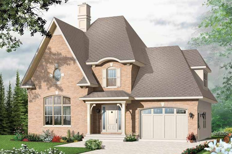 European Exterior - Front Elevation Plan #23-2404 - Houseplans.com