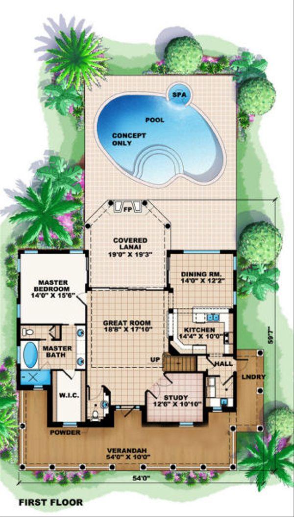 Colonial Floor Plan - Main Floor Plan Plan #27-407