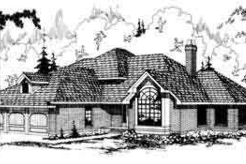 Dream House Plan - Traditional Exterior - Front Elevation Plan #124-108