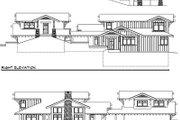 Prairie Style House Plan - 3 Beds 3.5 Baths 3438 Sq/Ft Plan #124-553 Exterior - Rear Elevation