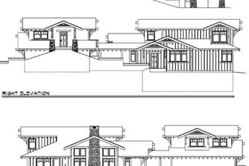 Prairie Exterior - Rear Elevation Plan #124-553 - Houseplans.com