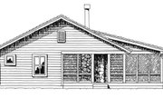 Country Style House Plan - 2 Beds 2 Baths 1031 Sq/Ft Plan #942-13 Exterior - Other Elevation
