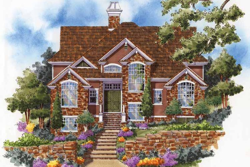 European Style House Plan - 3 Beds 4 Baths 3839 Sq/Ft Plan #930-126
