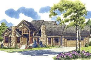 Craftsman Exterior - Front Elevation Plan #942-12