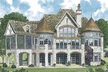 House Plan Design - European Exterior - Rear Elevation Plan #453-543