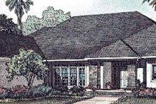 Mediterranean Exterior - Front Elevation Plan #17-3049