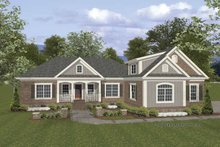 Traditional Exterior - Front Elevation Plan #56-676