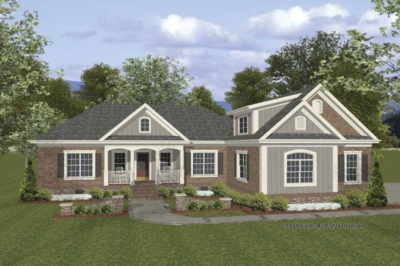 Traditional Exterior - Front Elevation Plan #56-676 - Houseplans.com