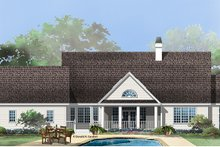 Country Exterior - Rear Elevation Plan #929-961